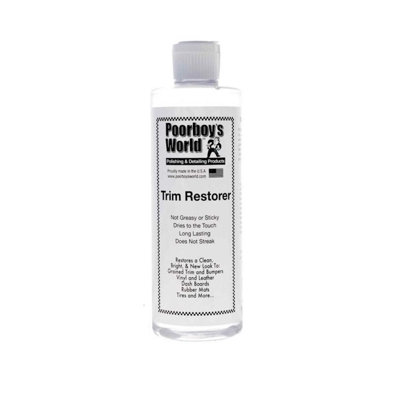 Poorboy's Trim Restorer 473ml - dressing do plastików, gum i winyli zewnętrznych