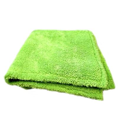 Mikrofibra zielona 600gsm 40x40cm doskonała mikrofibra do docierania wosków i powłok