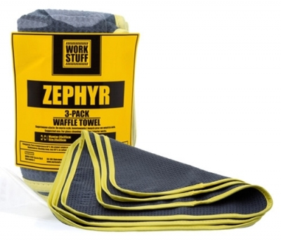 Work Stuff Zephyr Waffle Towel 3 Pack - Mikrofibra waflowana do szyb 35x35cm
