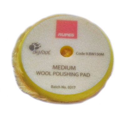 RUPES Tarcza polerska z wełny 50/65mm Yellow wool żółta medium