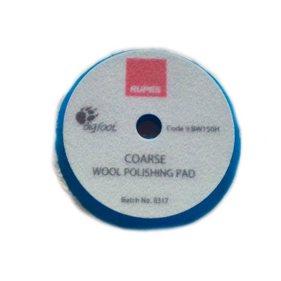 Tarcza polerska z wełny RUPES 130/150mm Blue wool niebieska coarse