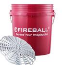 FIREBALL wiadro detailingowe z separatorem brudu (czerwone)