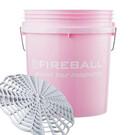 FIREBALL wiadro detailingowe z separatorem brudu (różowe)