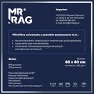 MR RAG 40x40cm BLUE 380GSM mikrofibra niebieska 12-pack