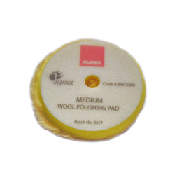 RUPES Tarcza polerska z wełny 50/65mm Yellow wool żółta medium