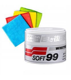 Soft99 White Soft Wax 350g - wosk do jasnych lakierów