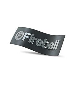 FIREBALL naklejka - chrome