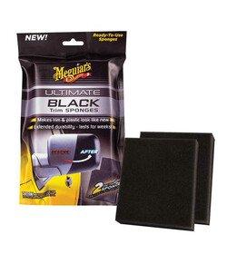 Meguiar's Ultimate Black Sponges 2szt. - gąbka do odświeżania plastików