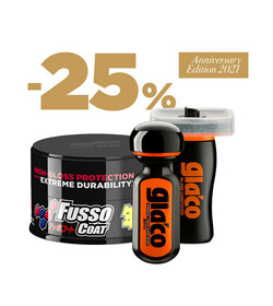 Soft99 Protection Set Dark Fusso Coat + Ultra Glaco + Glaco Glass Compound Roll On GRATIS!