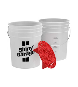 Shiny Garage Wash Bucket Red - wiadro detailingowe
