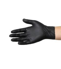 Rękawiczki nitrylowe czarne S