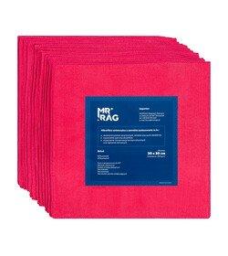 MR RAG 30x30cm red 250gsm 12-pack mikrofibra czerwona