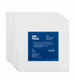 MR RAG 30x30cm white 250gsm 12-pack mikrofibra biała