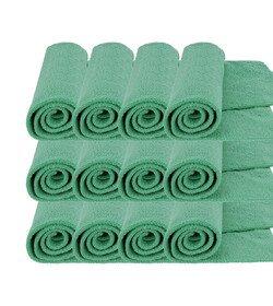 MR RAG 40x40cm GREEN edgeless 380GSM mikrofibra zielona bezszwowa 12-pack