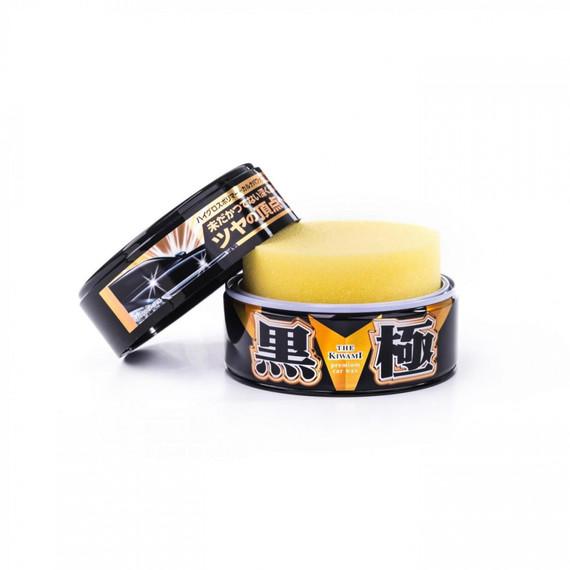 Soft99 Kiwami Extreme Gloss Black Hard Wax zestaw