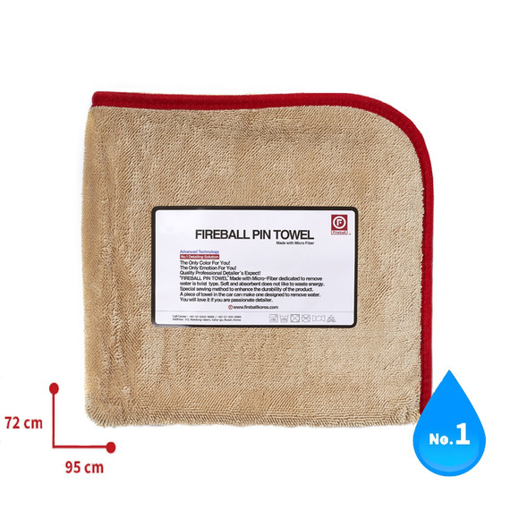 Fireball PIN Towel 72 x 95 RED