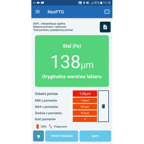NexPTG Standard - miernik grubości lakieru