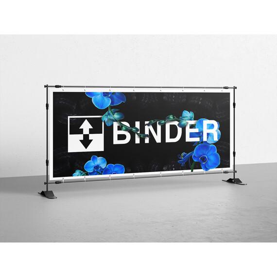 BINDER blue banner 120 x 60cm