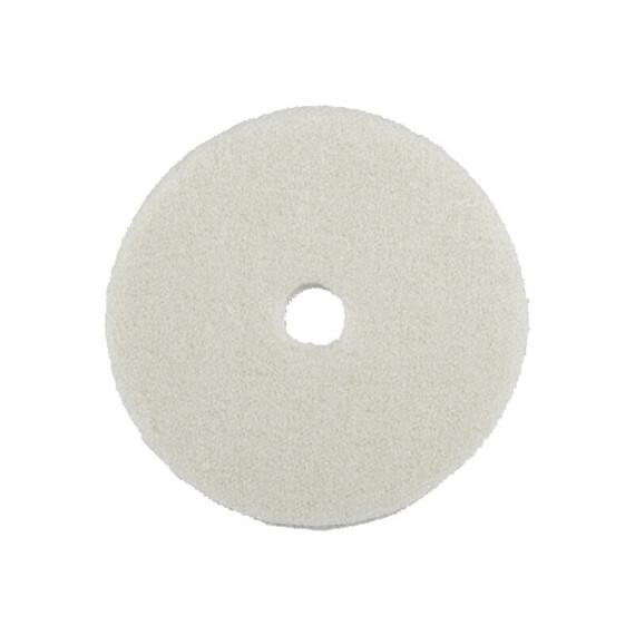 """ZviZZer """"Doodle"""" Wool-Pad white Ø 135/15/135mm, pad wełniany biały DA, futro polerskie"""