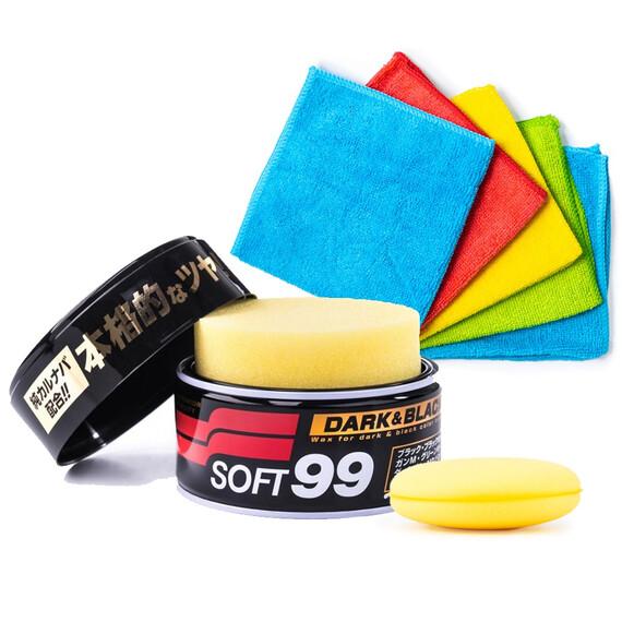 Soft99 Dark & Black Wax 300g zestaw