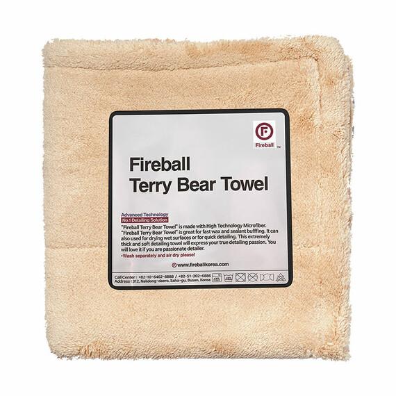 FIREBALL Terry Bear Buffing Towel 40 x 40cm - wysokiej jakości, gruba mikrofibra