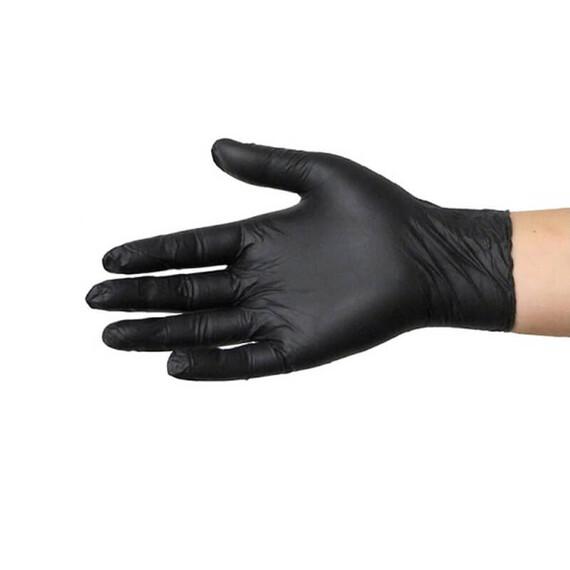 Rękawiczki nitrylowe czarne L