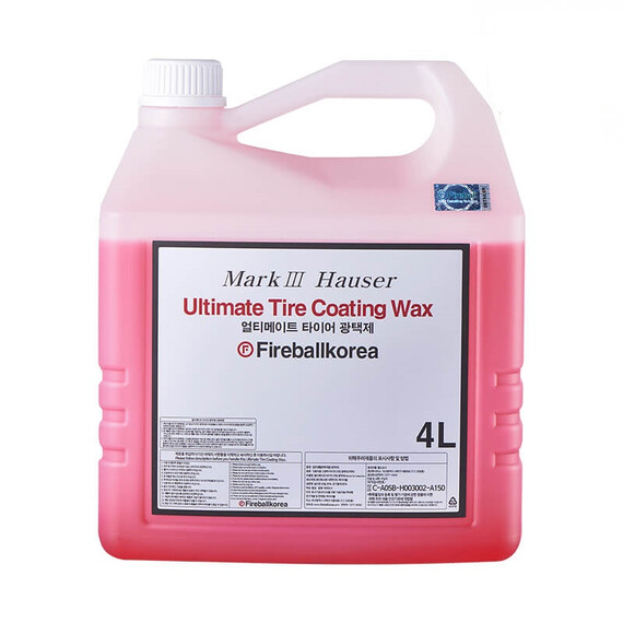 FIREBALL Ultimate Tire Coating Wax Red 4L - dressing do opon, satyna