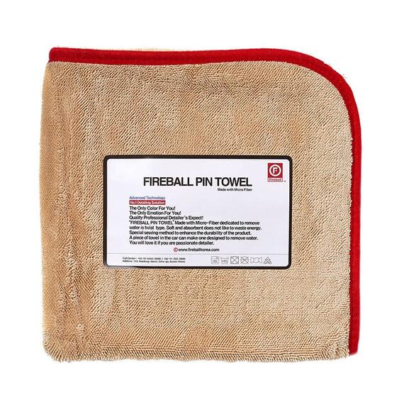 FIREBALL PIN Towel 72 x 95 RED - ręcznik