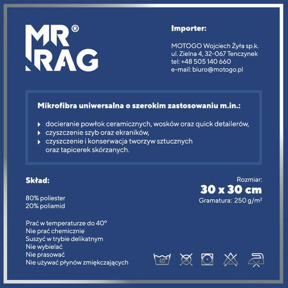MR RAG 30x30cm green 250gsm mikrofibra zielona